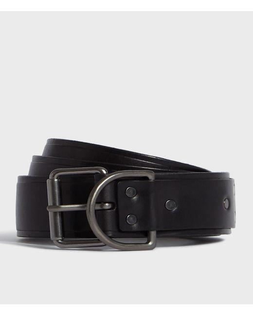 AllSaints Black Kit Leather Belt for men