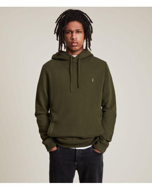 AllSaints Men's Raven Pullover Hoodie Marsh Green Size: Xs for men