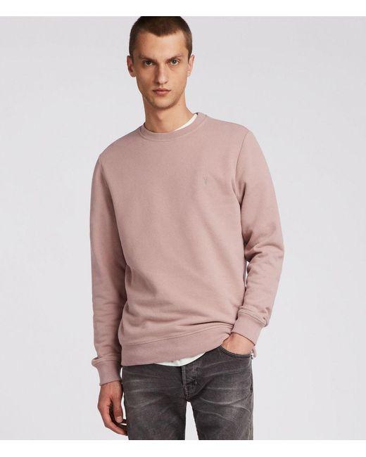 AllSaints - Pink Raven Sweatshirt for Men - Lyst