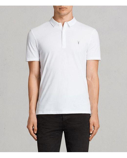 AllSaints - White Brace Polo Shirt Usa Usa for Men - Lyst