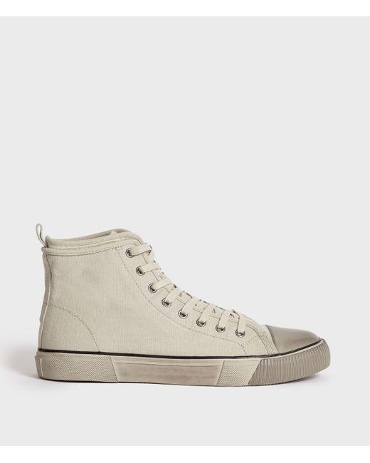 AllSaints Natural Rigg Canvas Hightop Sneaker for men