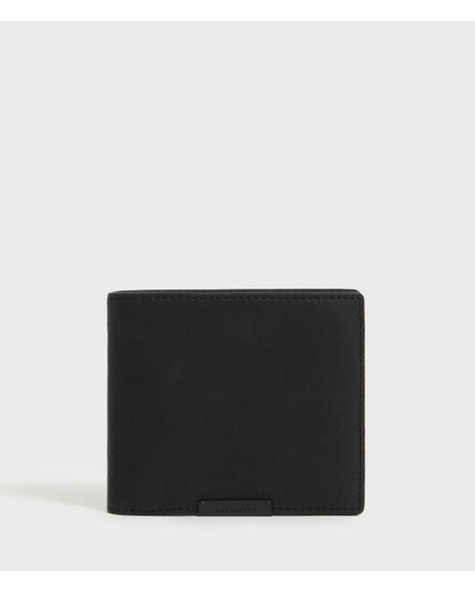 AllSaints Black Attain Leather Cardholder Wallet for men