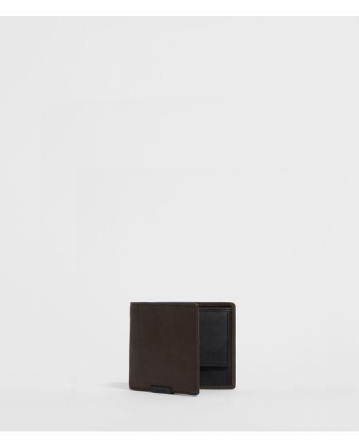 AllSaints Black Blyth Leather Wallet Mens for men