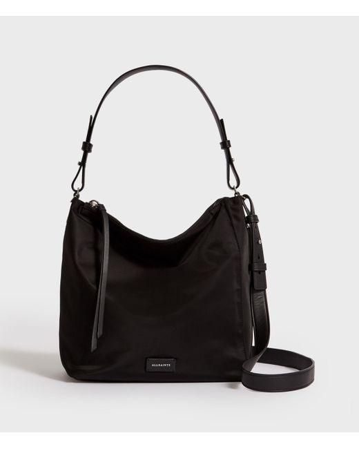 AllSaints Black Nilo Kita Nylon Crossbody Bag