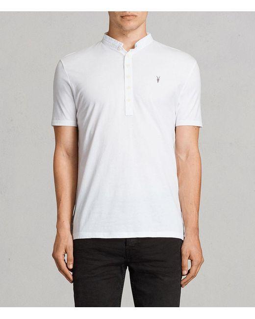 AllSaints   White Saints Polo Shirt for Men   Lyst
