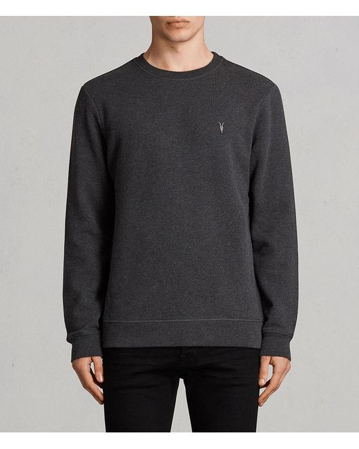 AllSaints - Gray Raven Sweatshirt for Men - Lyst