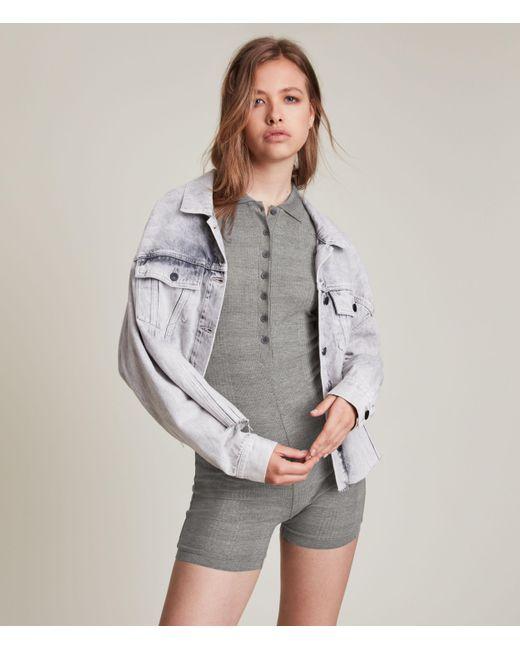AllSaints Gray Women's Holly Romper Playsuit
