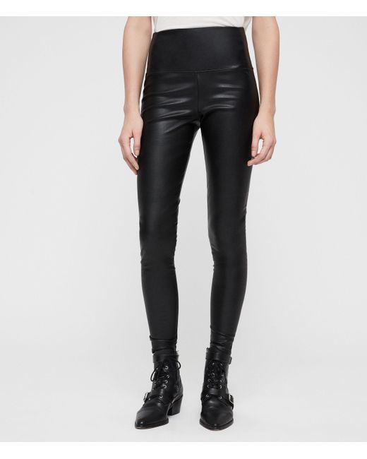 AllSaints Black Cora High-rise Leggings