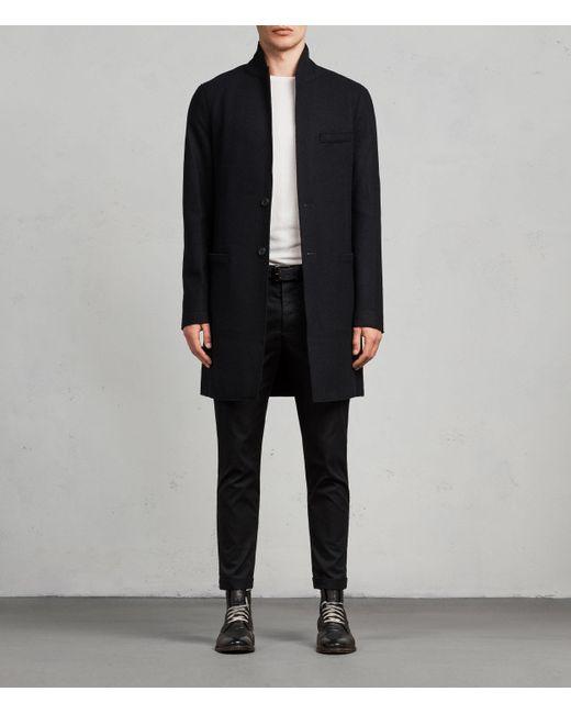 AllSaints Black Teralta Coat for men