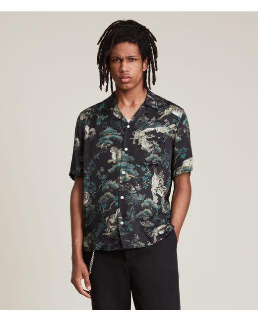 AllSaints Black Men's Thicket Shirt for men