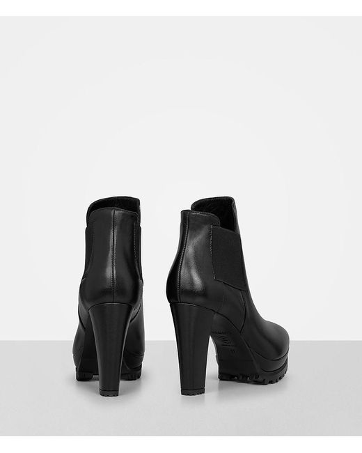 AllSaints STUDDED SARRIS - High heeled ankle boots - matte black