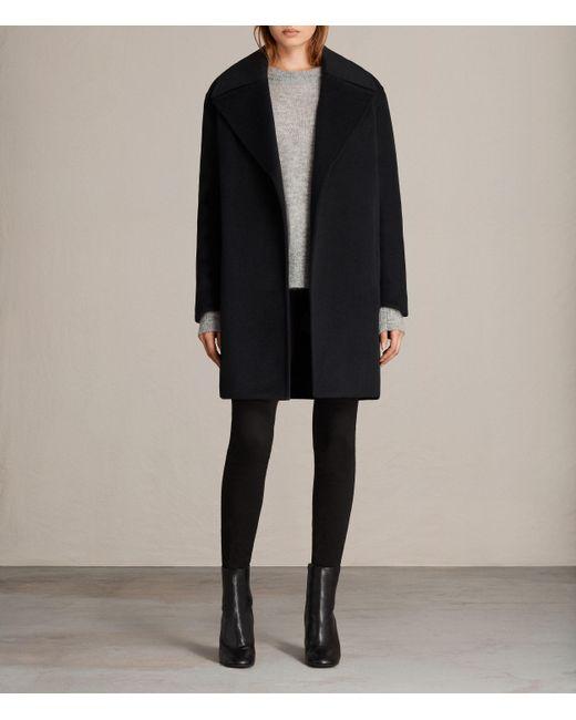 AllSaints | Blue Remi Coat | Lyst