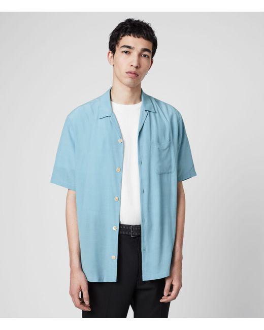 AllSaints Blue Kiowa Shirt for men