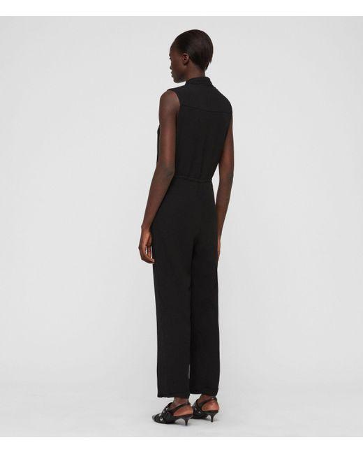 95c141b768 ... AllSaints - Black Cassie Jumpsuit - Lyst