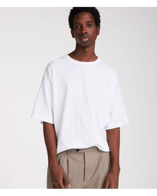 AllSaints White Atnom Crew T-shirt for men