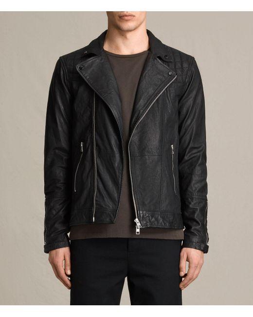 AllSaints   Black Kushiro Leather Biker Jacket for Men   Lyst