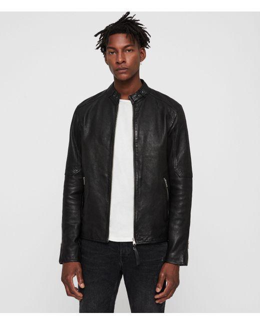 AllSaints Black Cora Leather Jacket for men