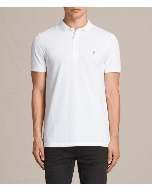 AllSaints   White Reform Polo Shirt for Men   Lyst