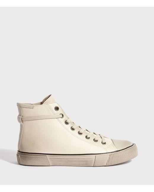 AllSaints Natural Osun Leather Hightop Sneaker for men