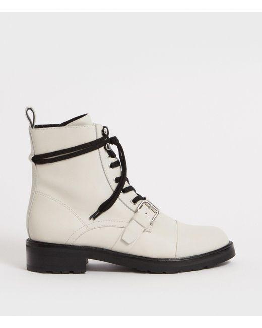 a154907b9ab804 AllSaints - White Donita Boot - Lyst ...