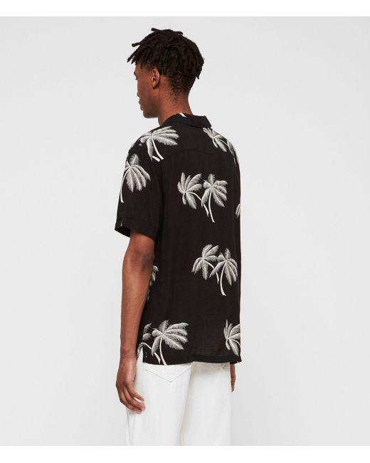 b62d0112 ... AllSaints - Black Offshore Shirt for Men - Lyst ...