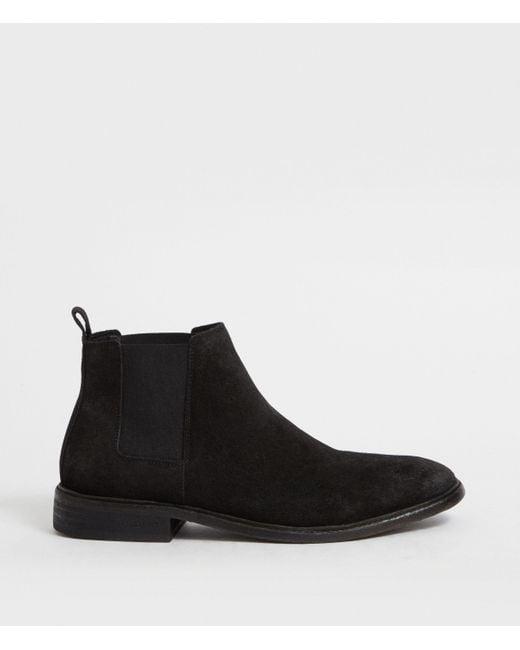 AllSaints Black Rook Chelsea Boot for men