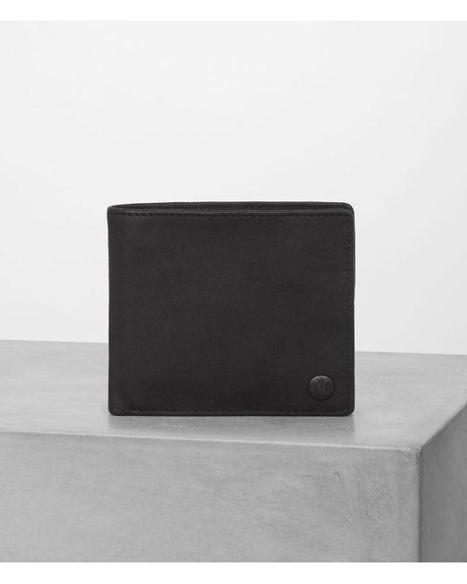 AllSaints - Black Blyth Leather Wallet for Men - Lyst