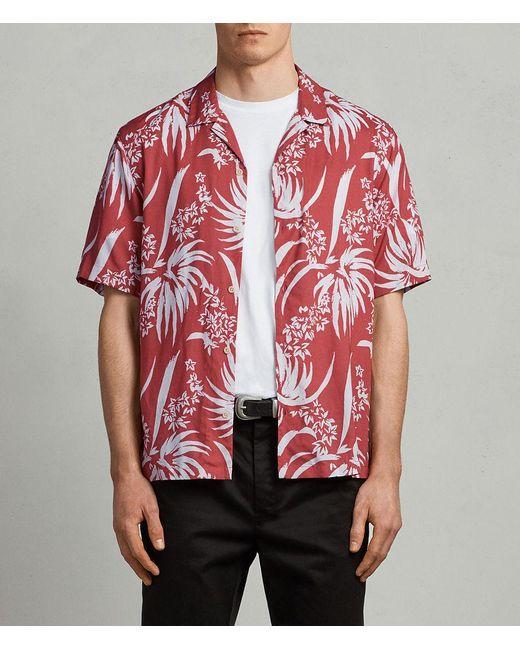 AllSaints - Red Koloa Hawaiian Shirt for Men - Lyst