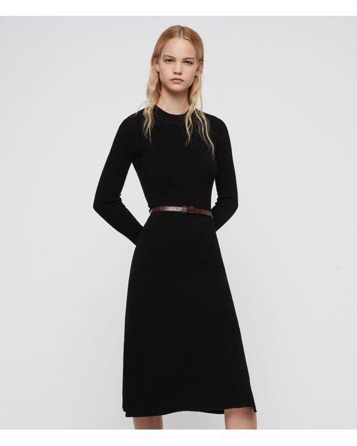AllSaints Black Nala Dress