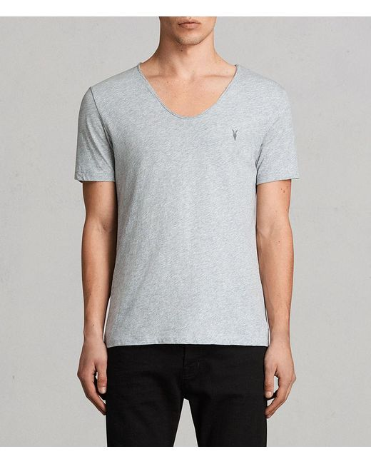 AllSaints - Gray Tonic Scoop T-shirt for Men - Lyst