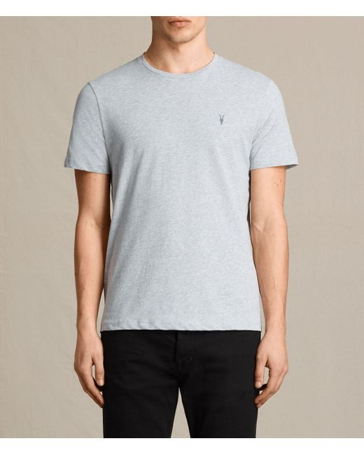AllSaints | Gray Brace Tonic Crew T-shirt Usa Usa for Men | Lyst