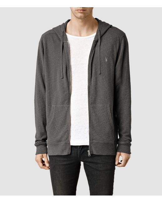 AllSaints | Gray Clash Hoody for Men | Lyst