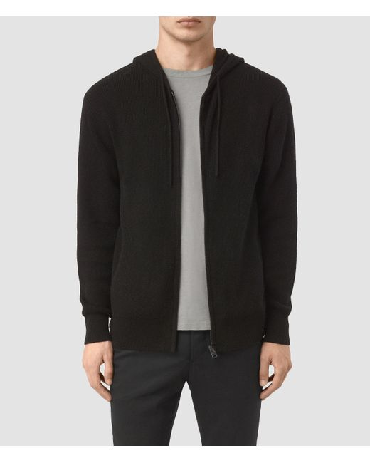 AllSaints | Black Hiru Cashmere Hoody Usa Usa for Men | Lyst