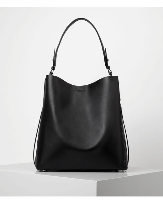 AllSaints | Brown Paradise North South Tote | Lyst