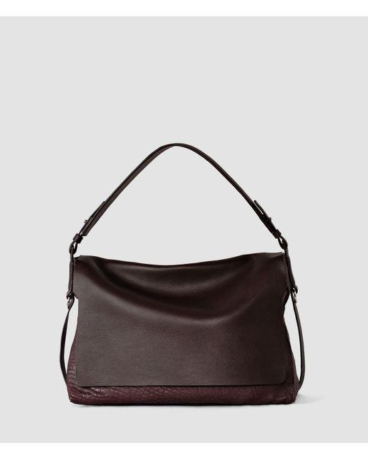 AllSaints | Purple Paradise Satchel Bag | Lyst