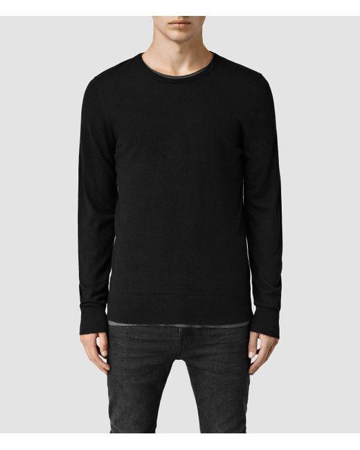 AllSaints | Black Riviera Cashmere Crew Sweater Usa Usa for Men | Lyst
