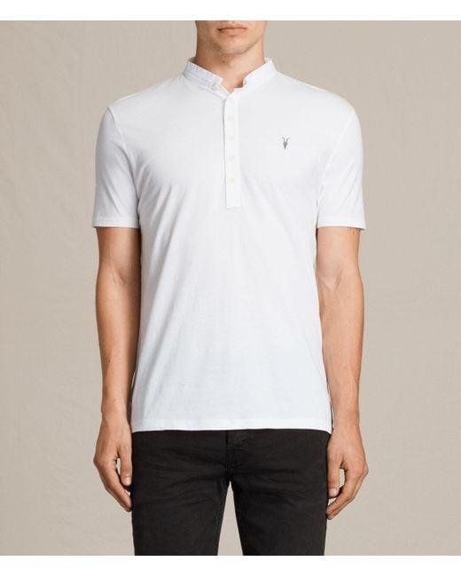 AllSaints | White Saints Polo Shirt for Men | Lyst