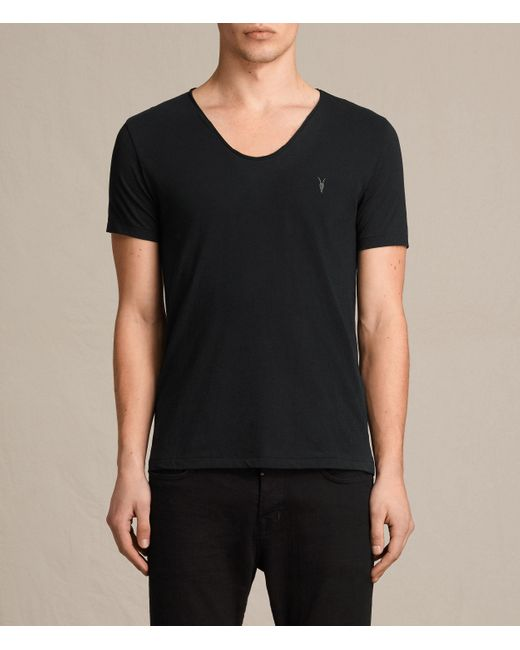 AllSaints | Black Tonic Scoop T-shirt for Men | Lyst