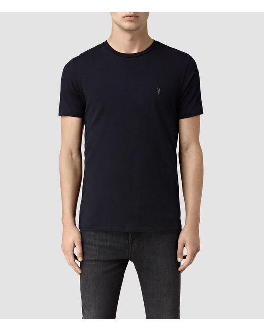 AllSaints | Blue Tonic Crew T-shirt Usa Usa for Men | Lyst