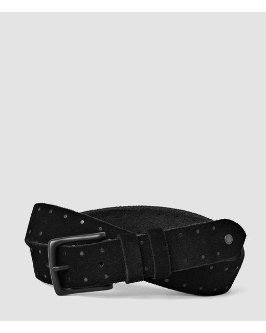 AllSaints | Black Trap Slim Belt for Men | Lyst