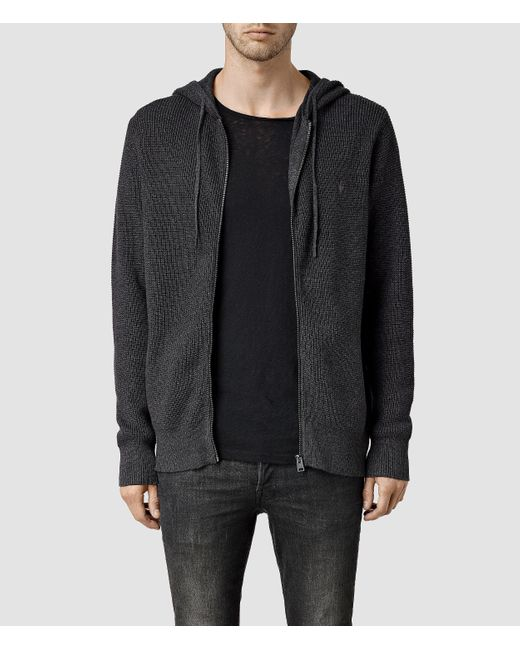 AllSaints | Black Trias Hoody for Men | Lyst