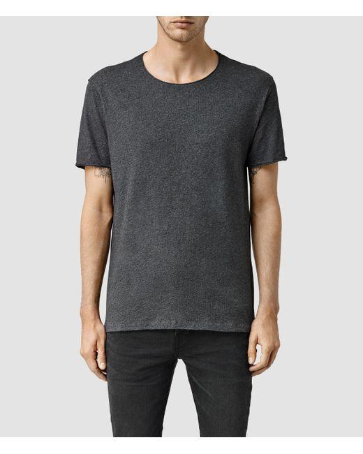 AllSaints | Gray Warn Crew T-shirt for Men | Lyst