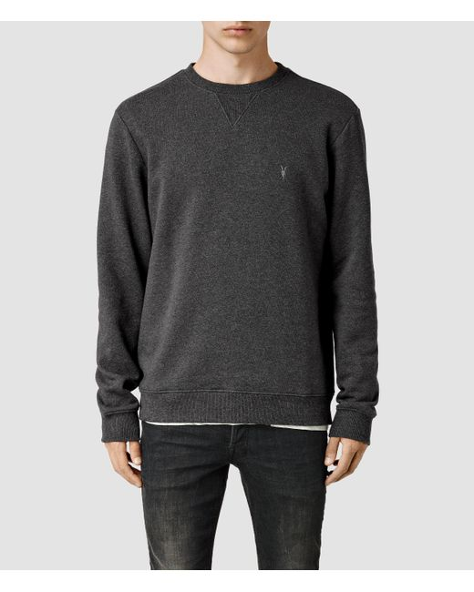 AllSaints | Gray Wilde Crew Sweatshirt for Men | Lyst
