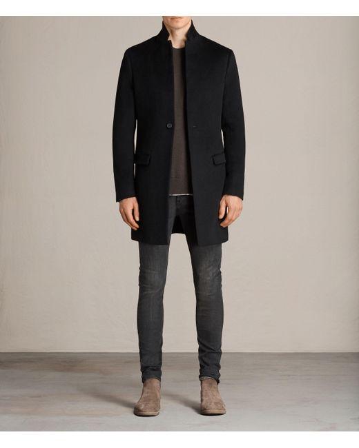 AllSaints Black Bodell Coat for men