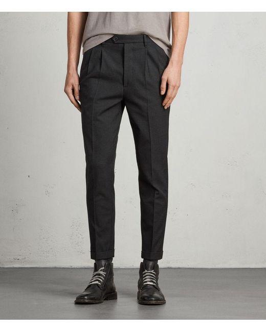 AllSaints - Gray Tallis Trouser for Men - Lyst
