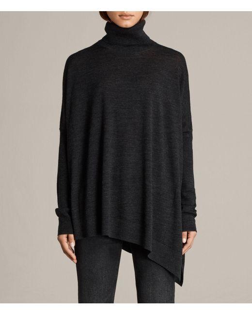 AllSaints | Black Iris Jumper | Lyst
