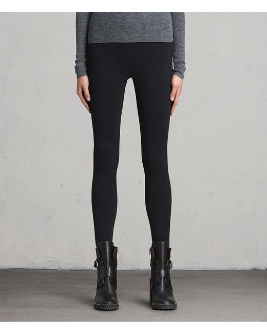 AllSaints - Black Bri Leggings - Lyst