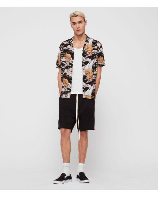 AllSaints Black Sumatra Shirt for men