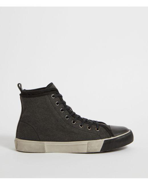 AllSaints Black Rigg Hightop Sneaker for men