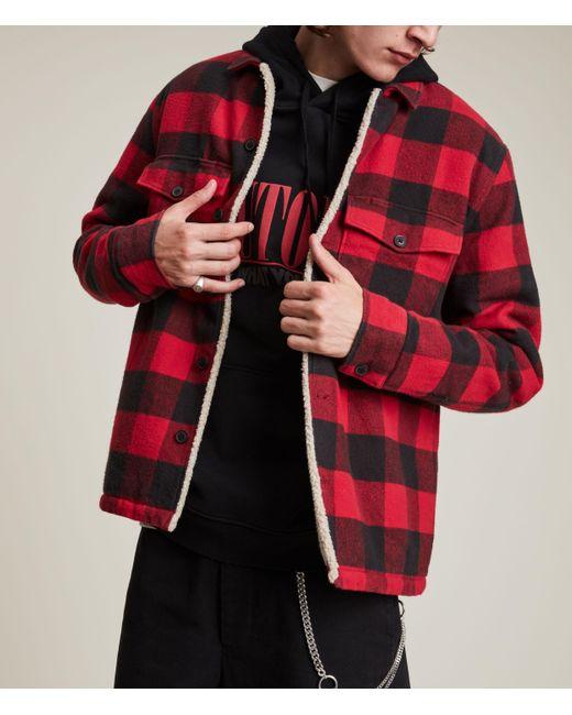 AllSaints Men's Claypool Jacket Sienna Red Size: S for men